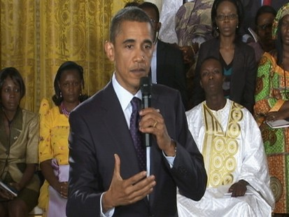 Video: President Obama holds town hall with young Africans.