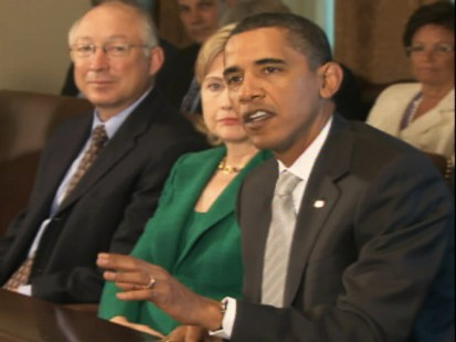 Video of President Obama saying he accepts Rep. Joe Wilsons apology.