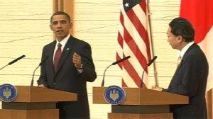Video of President Obama in Japan with the prime minister.