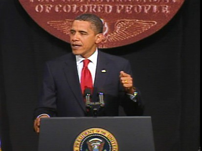 ABC News video of Obama at the NAACP.