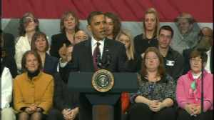 ABC News video of Obama speaking in Nashua, New Hampshire.