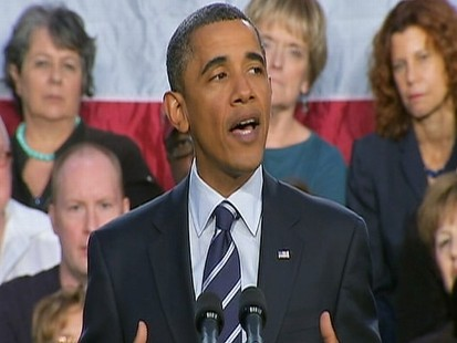 Video: Obama gives firey remarks on economy and GOP.
