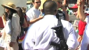 Video of protesters outside of Obamas event at the VFW in Phoenix, Arizona.