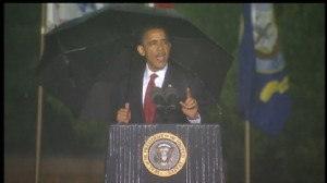 ABC News video of President Obamas remarks at Abraham Lincoln Natl Cemetary.