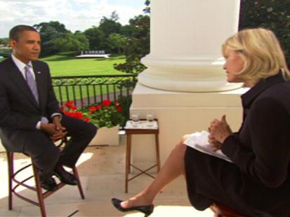 Video of ABCs Diane Sawyer interviewing President Obama.