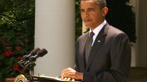 Video of Obama calling on Congress to pass energy legislation.