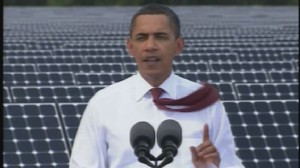 ABC News video of Obama speaking at Florida solar plant.