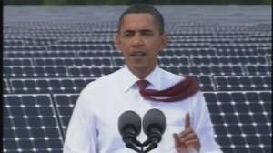 ABC News video of Obama speaking at Florida solar plant.
