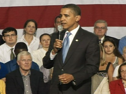 Video of President Obama addressing concerns about paying for health care.