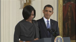 ABC video of President Obamas remarks celebrating International Womens Day.