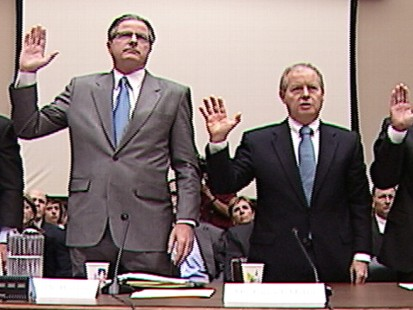 Video of Exxon CEO testifying on Captiol Hill.