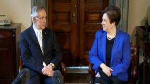 Video of Senator Harry Reid meeting with Elena Kagan on Capitol Hill.