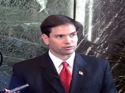 Video of Marco Rubio talking about terrorism.