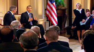 ABC News video of Obama explaining why government should get involved in health care.
