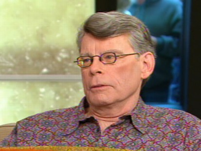 Video of author Stephen King talking about Under the Dome, saying Jake Tapper plays a role.