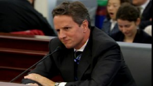 Video of Treasury Secretary Tim Geithner being grilled on Capitol Hill by Republicans.