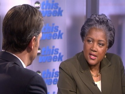 "Video of Donna Brazile talking about primary elections on ""This Week."""