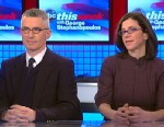 "PHOTO: ""Fall to Grace"" Director Alexandra Pelosi and Former New Jersey Governor Jim McGreevey (D) on This Week"