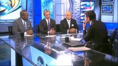 PHOTO: ABC News Senior Justice Correspondent Pierre Thomas, ABC News Legal Analyst Dan Abrams, and ABC News Contributor and former New York City Police Commissioner Ray Kelly discuss the unrest in Baltimore on This Week