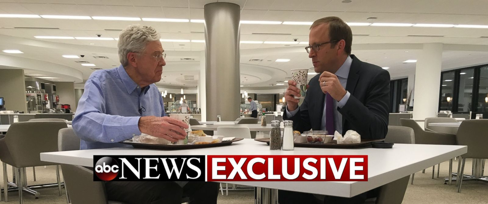 PHOTO: Charles Koch speaks to ABC News Jonathan Karl in an exclusive interview.