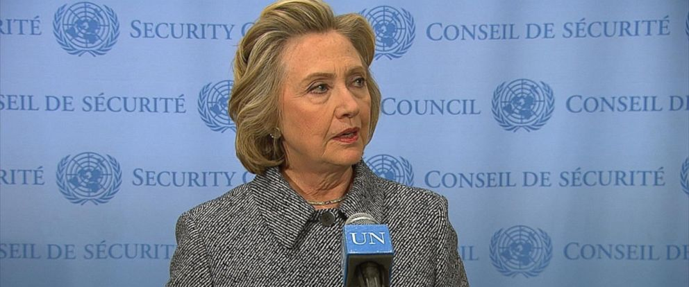 PHOTO: Hillary Clinton speaks at the United Nation, March 10, 2015.