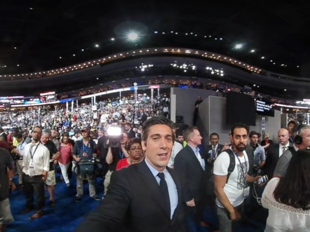 David Muir's 360 Video of DNC Shows a Divided Floor