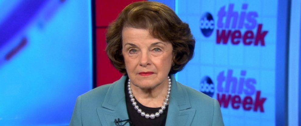 PHOTO: Intelligence Committee Ranking Member Sen. Dianne Feinstein on This week