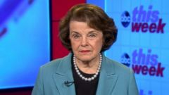PHOTO: Intelligence Committee Ranking Member Sen. Dianne Feinstein on This week