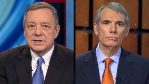 ABC dick durbin ron portman this week jt 131208 16x9 608 Key Senators Hopeful on Budget Deal By End of Week