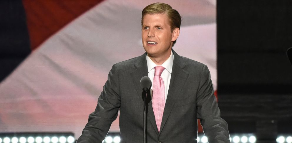 PHOTO: Eric Trump is pictured at the 2016 Republican National Convention at the Quicken Loans Arena in Cleveland, Ohio, July 20, 2016.