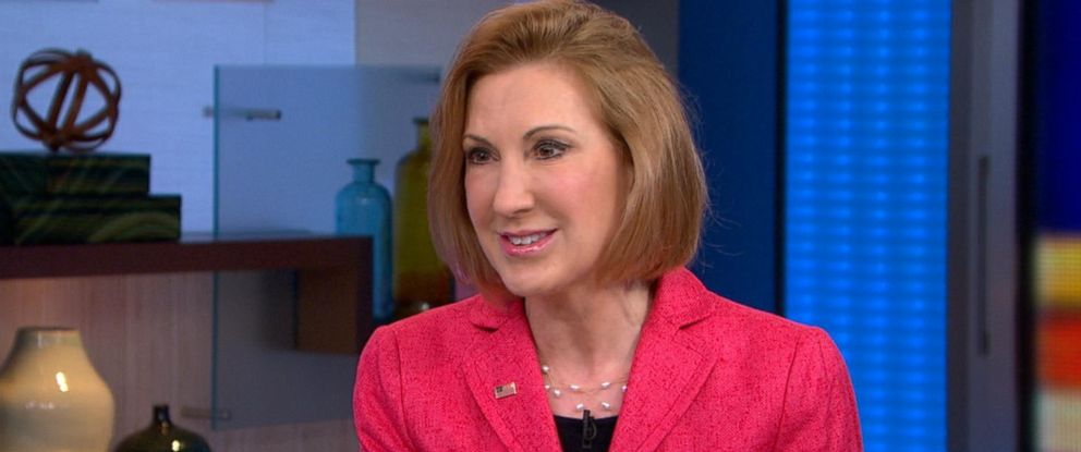 "PHOTO: Carly Fiorina is pictured on ""Good Morning America"" on May 4, 2015."