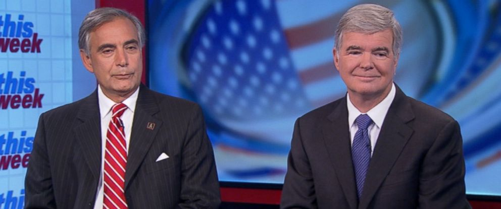 PHOTO: University of South Carolina President Dr. Harris Pastides and NCAA President Mark Emmert on This Week