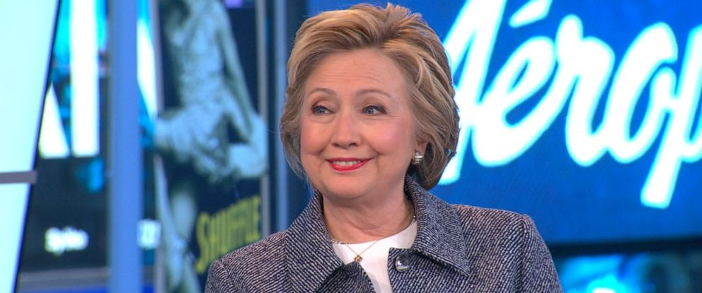 "PHOTO: Hillary Clinton stopped by ""Good Morning America,"" April 21, 2016."