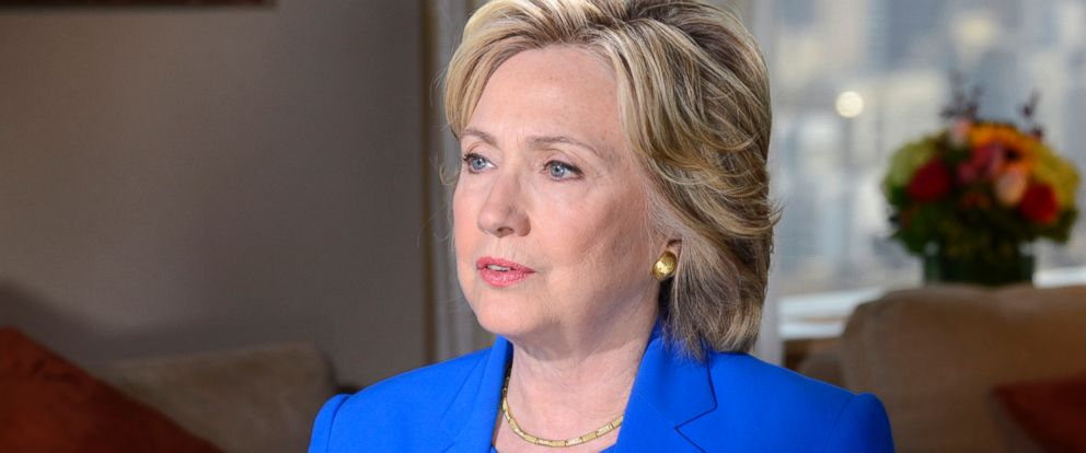 PHOTO: Hillary Clinton sits down with ABCs David Muir on September 8, 2015 for an exclusive interview.