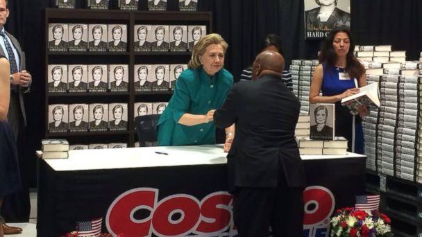 ABC hilliary clinton john lewis costco 2 jt 140614 16x9 608 Hillary Clinton Goes to Costco, Runs Into Sonia Sotomayor