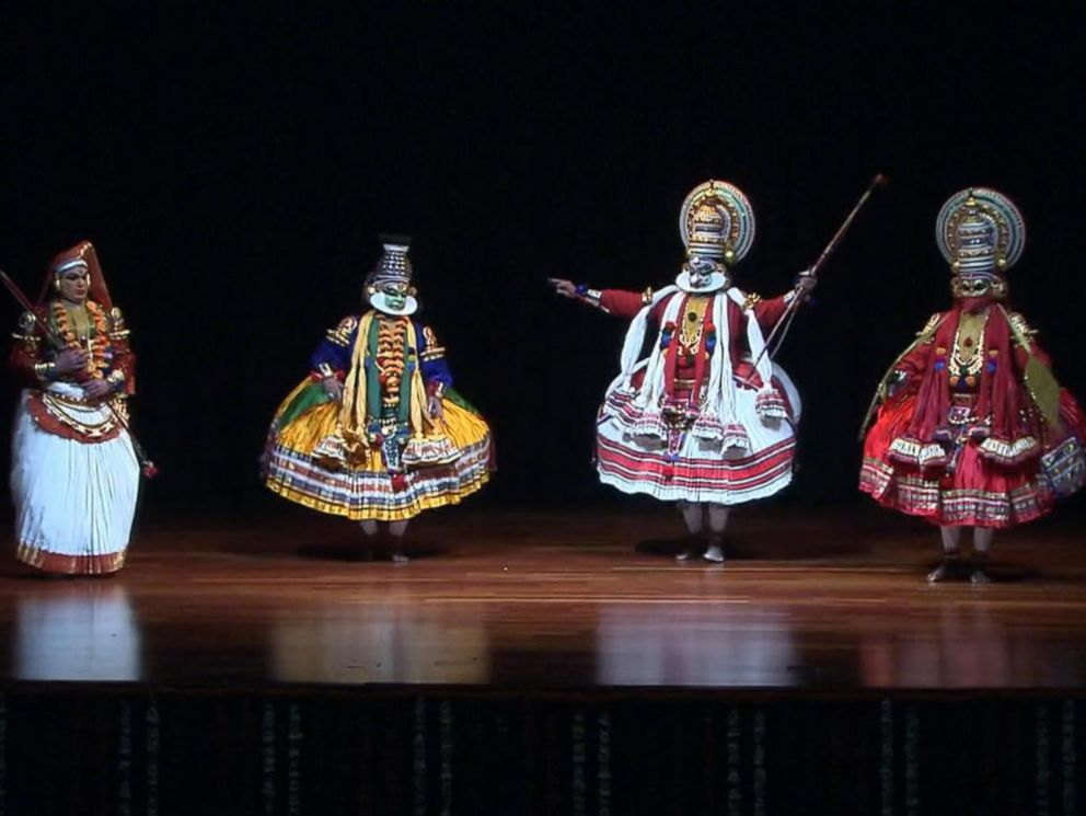 PHOTO: This image shows a cultural performance during the State Dinner at the Rashtrapati Bhavan, the presidential palace, in New Delhi, India, Sunday, Jan. 25, 2015.