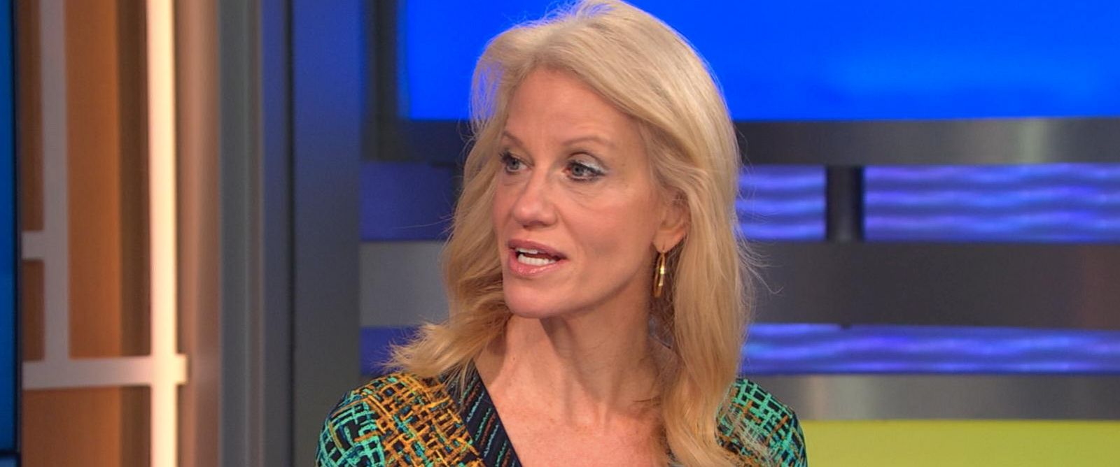 donald trump campaign manager kellyanne conway berates wishy photo kellyanne conway appears here on good morning america oct 12
