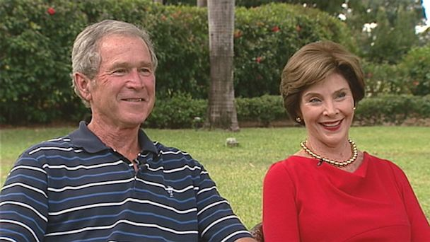ABC laura george bush 2 nt 130705 16x9 608 Sunday on This Week: Crisis in Egypt; George W. Bush and Laura Bush