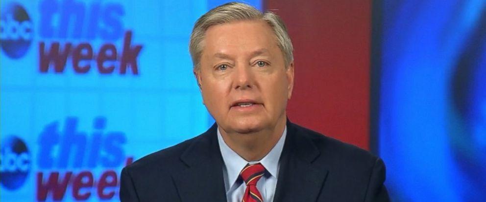 """PHOTO: Sen. Lindsey Graham on """"This Week"""""""