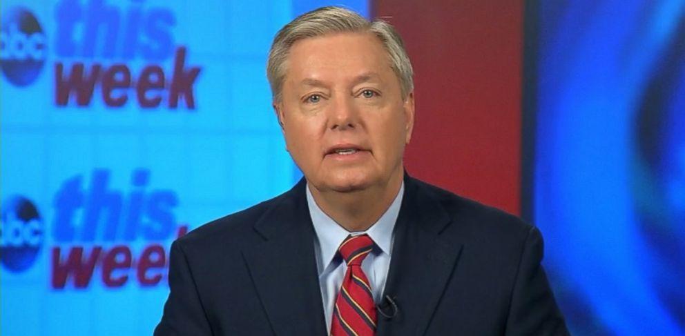 """PHOTO: Sen. Lindsey Graham on This Week"""""""