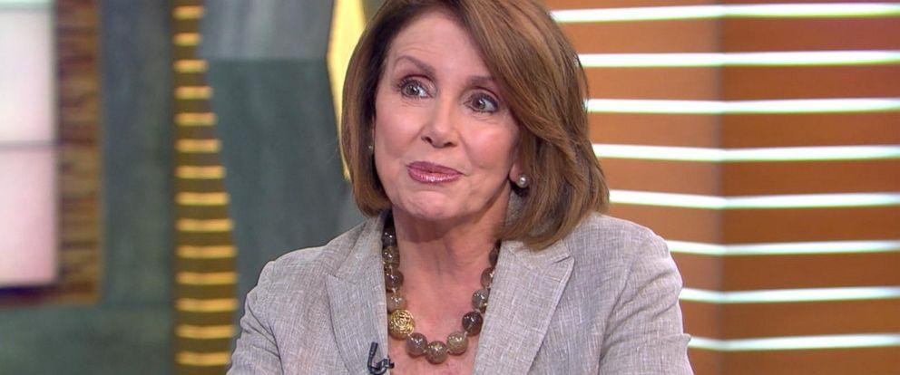 "PHOTO:House Minority Leader Nancy Pelosi on ""Good Morning America,"" June 7, 2016, in New York."