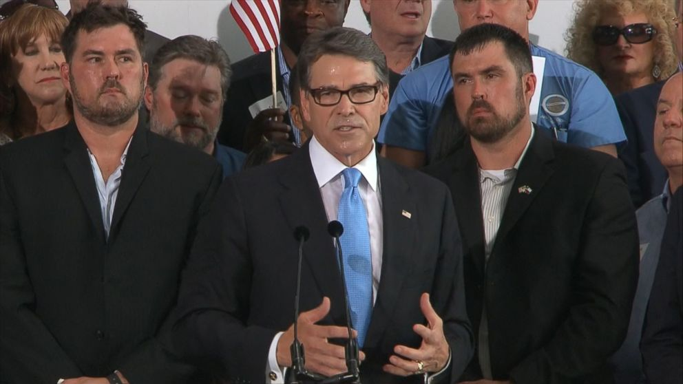 Meet The Twins Who Flanked Rick Perry During His Presidential Announcement
