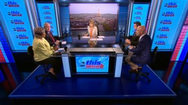 "PHOTO: ABC News Contributor and Democratic Strategist Donna Brazile, ABC News Contributor and The Weekly Standard Editor Bill Kristol, Rep Adam Kinzinger (R) Illinois and SiriusXMs ""The Michael Smerconish Program"" Host Michael Smerconish on This Week"