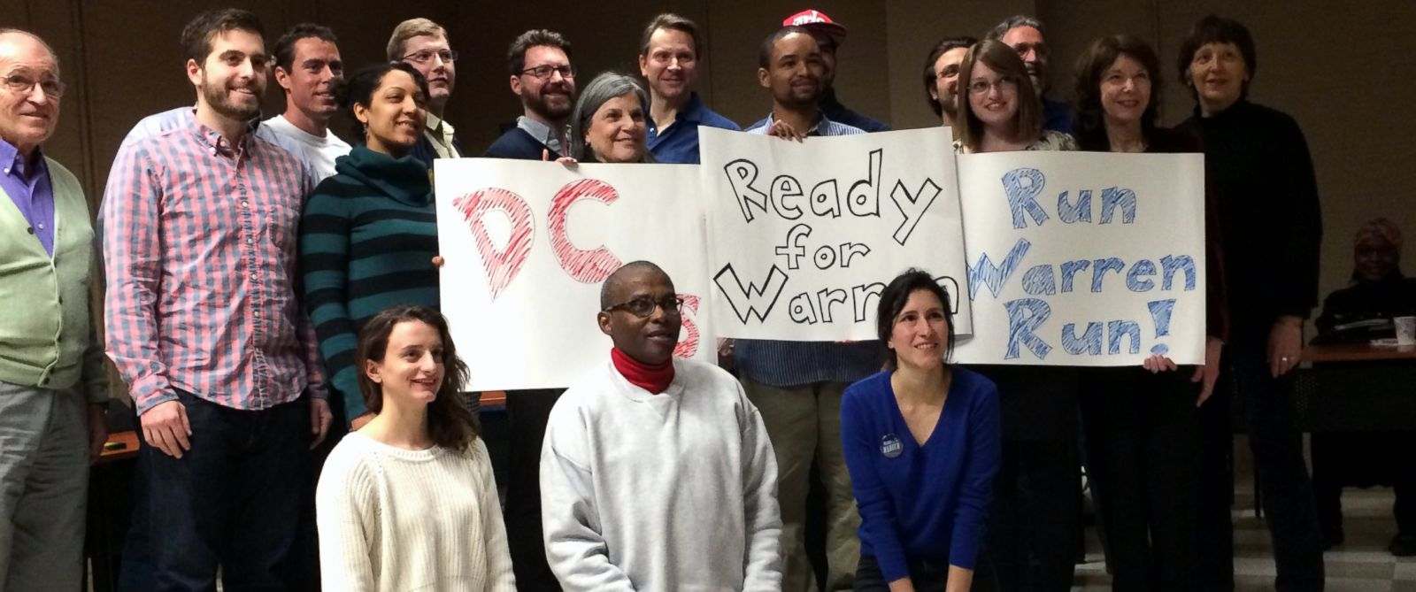 PHOTO: The group poses for a photo at the Run Warren Run meeting Feb. 1 at Martin Luther King Jr. Library in DC.