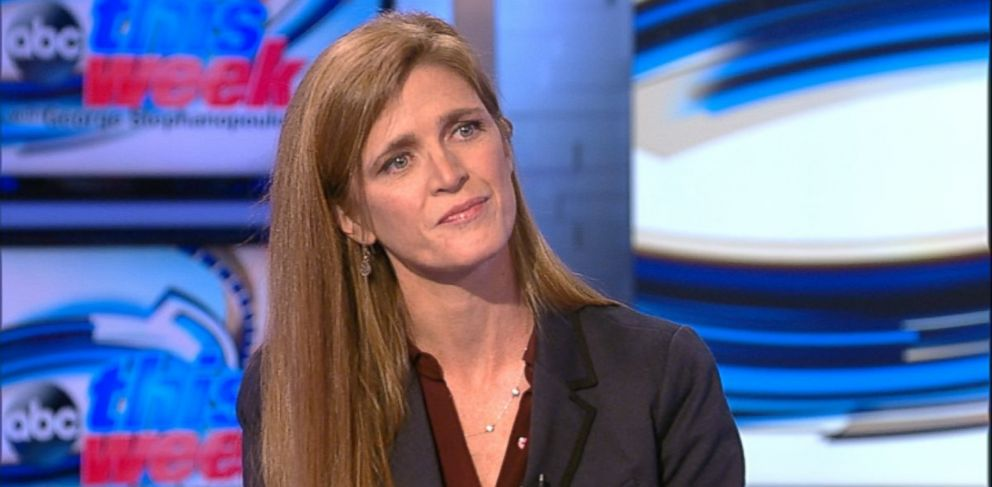 PHOTO: U.S. Ambassador to the UN Samantha Power on This Week