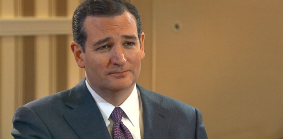 PHOTO: Texas Republican Sen. Ted Cruz is interviewed by ABCs Jon Karl for This Week
