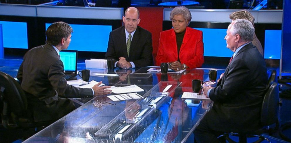 PHOTO: Democratic Strategist and ABC News Contributor Donna Brazile, ABC News Political Analyst and ABC News Special Correspondent Matthew Dowd, The Weekly Standard Editor Bill Kristol, and ABC News Cokie Roberts on This Week