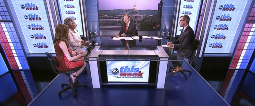 PHOTO: ABC News Contributor and Democratic Strategist Donna Brazile, Echelon Insights Co-Founder and Daily Beast Contributor Kristen Soltis Anderson, and ABC News Senior Washington Correspondent Jeff Zeleny on This Week