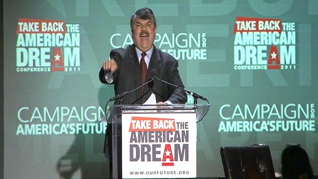 WATCH: Richard Trumka rallies labor to Obama.