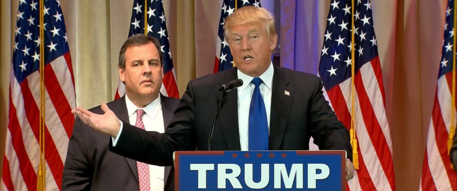 PHOTO: Donald Trump speaks at a news conference, March 1, 2016.